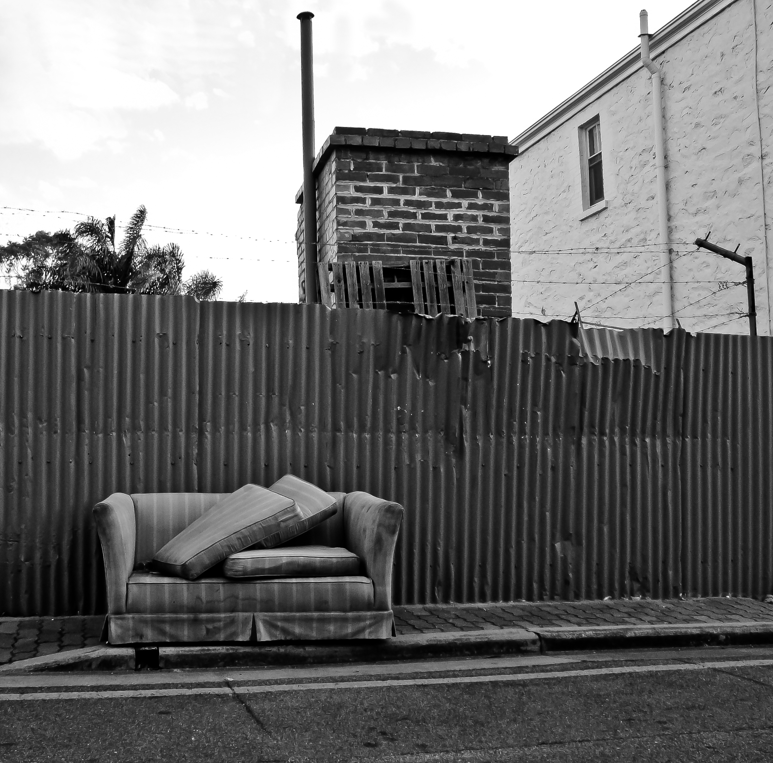uncomfortable couch. Abandoned Couch Uncomfortable L