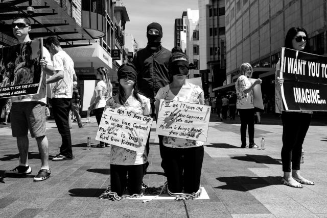 intense protest