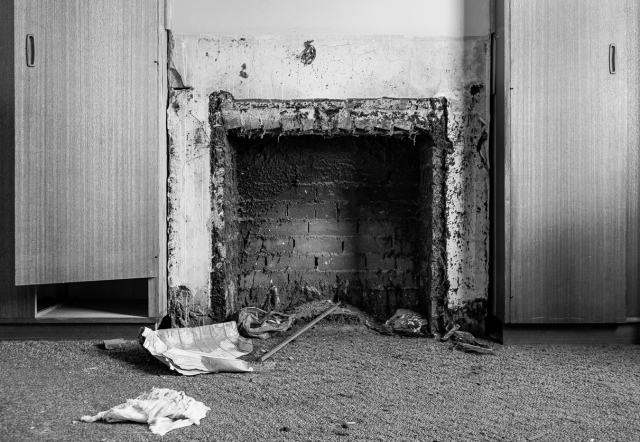 stolen fireplace