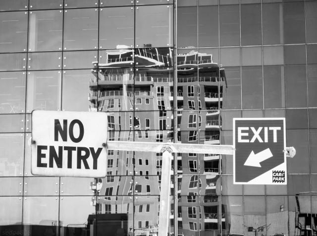 no entry exit